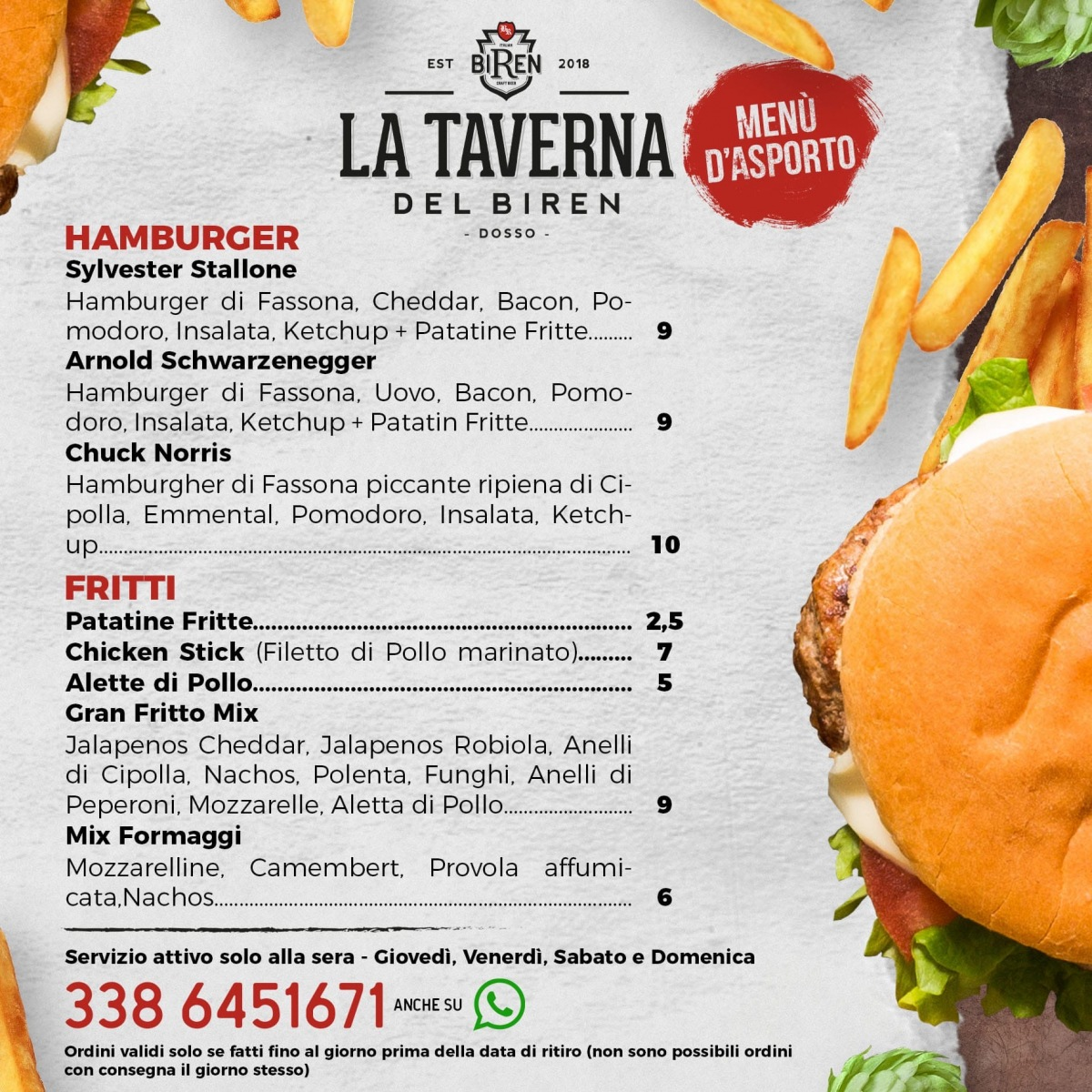 hamburger e fritti